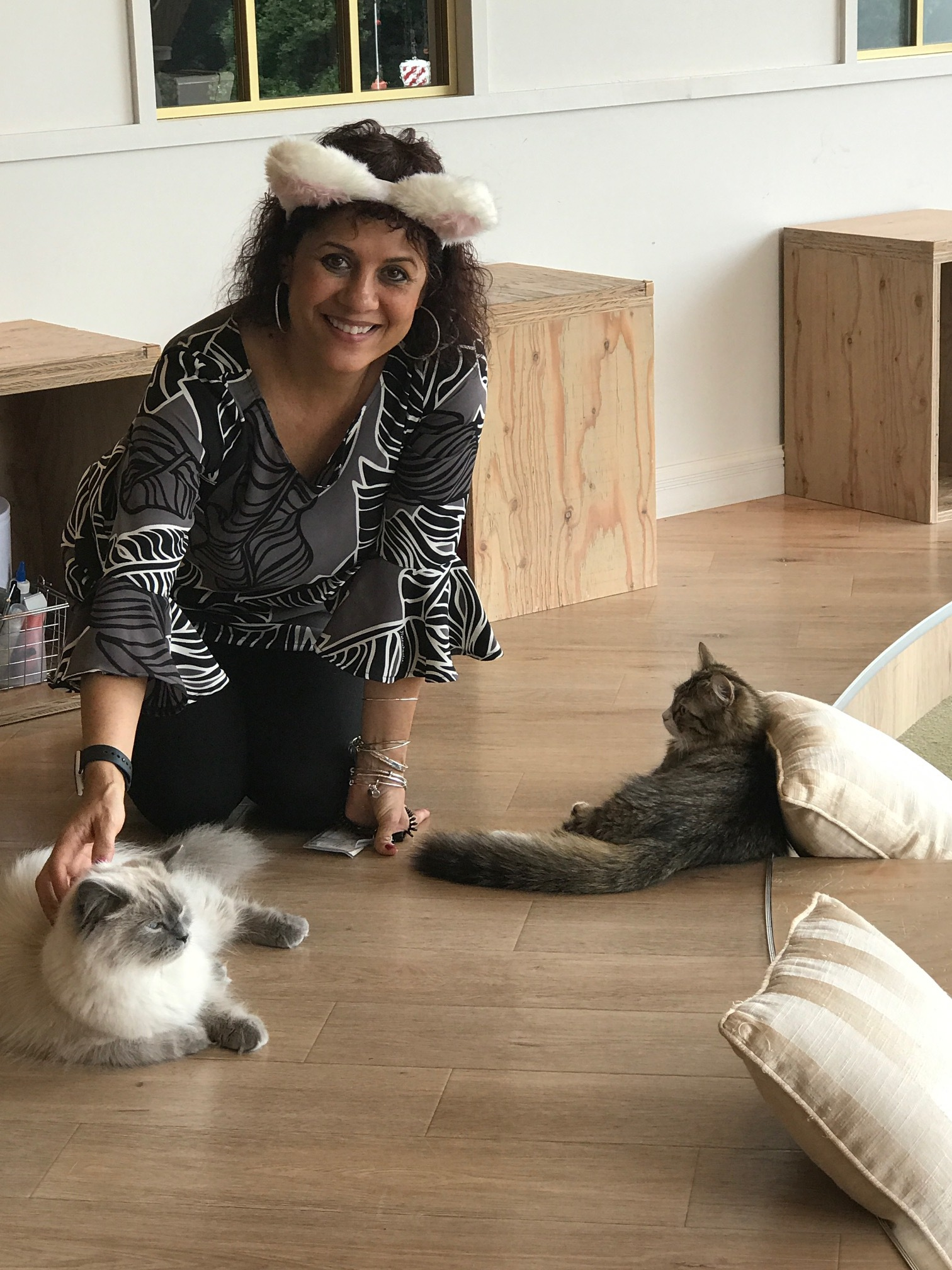 Cindy at the Cat Cafe