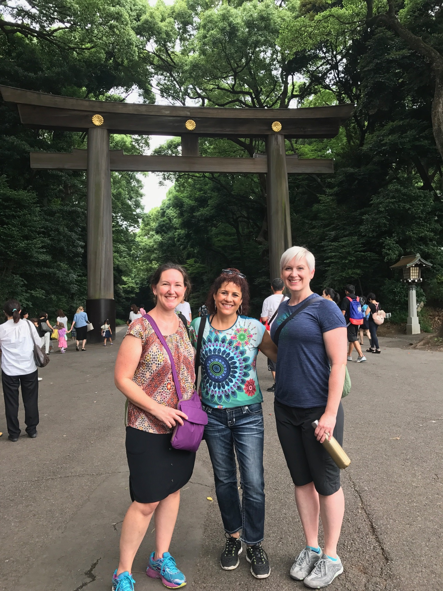 Meiji Temple with Meg, Cindy and Lynsay