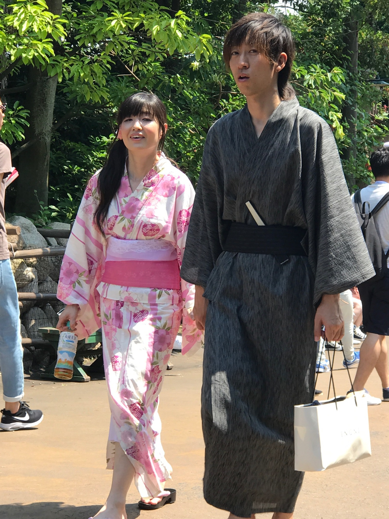 Wearing Yukata's at Disney Sea