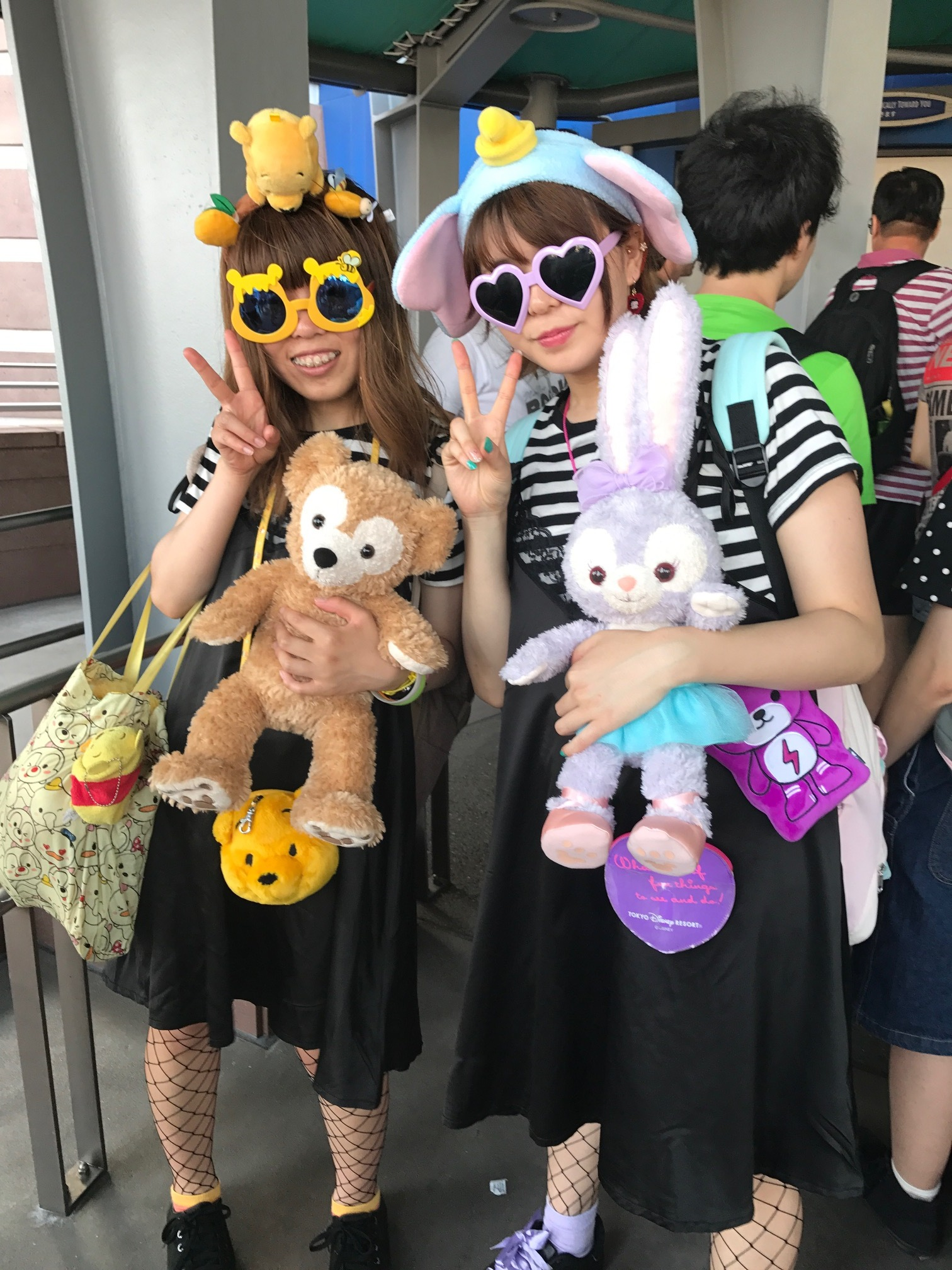 In line at Disney Sea