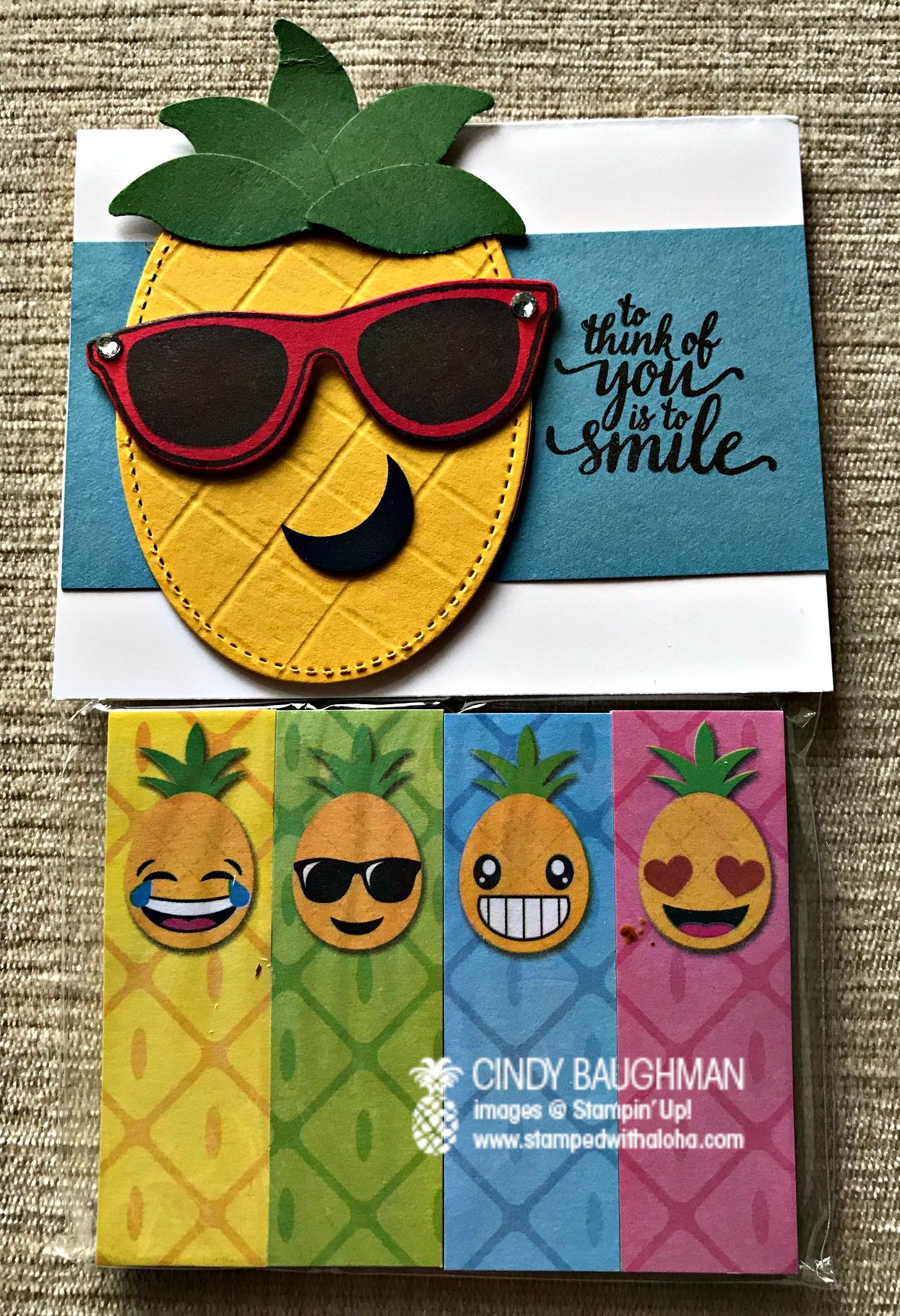 Pineapple Emoji Tabs - www.stampedwithaloha.com