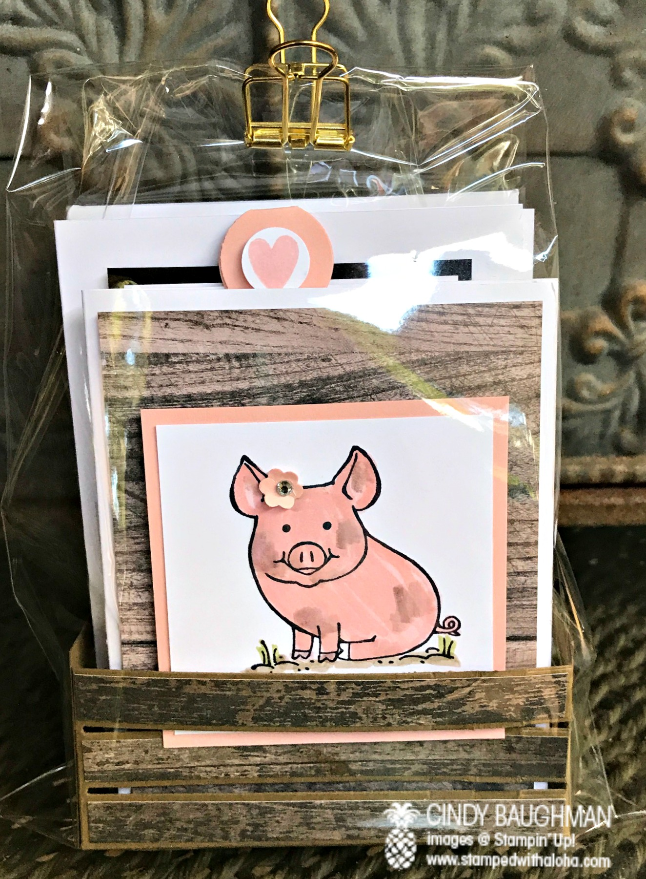 This Little Piggy Note Card Set - www.stampedwithaloha.com