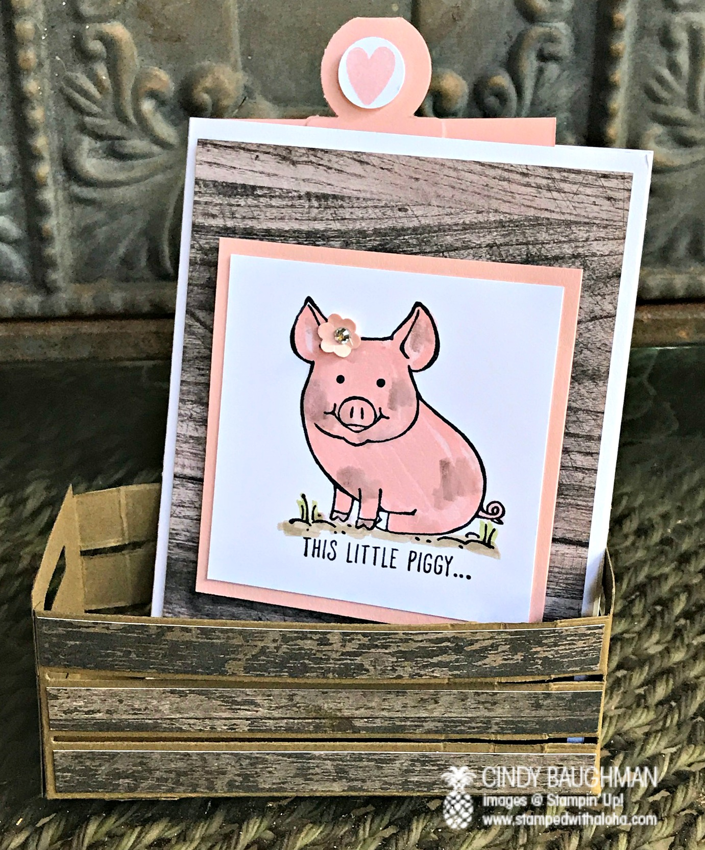 This Little Piggy Pull Card - www.stampedwithaloha.com