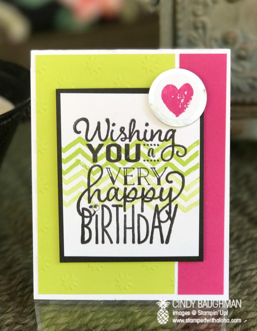 Big On Birthdays Card - www.stampedwithaloha.com