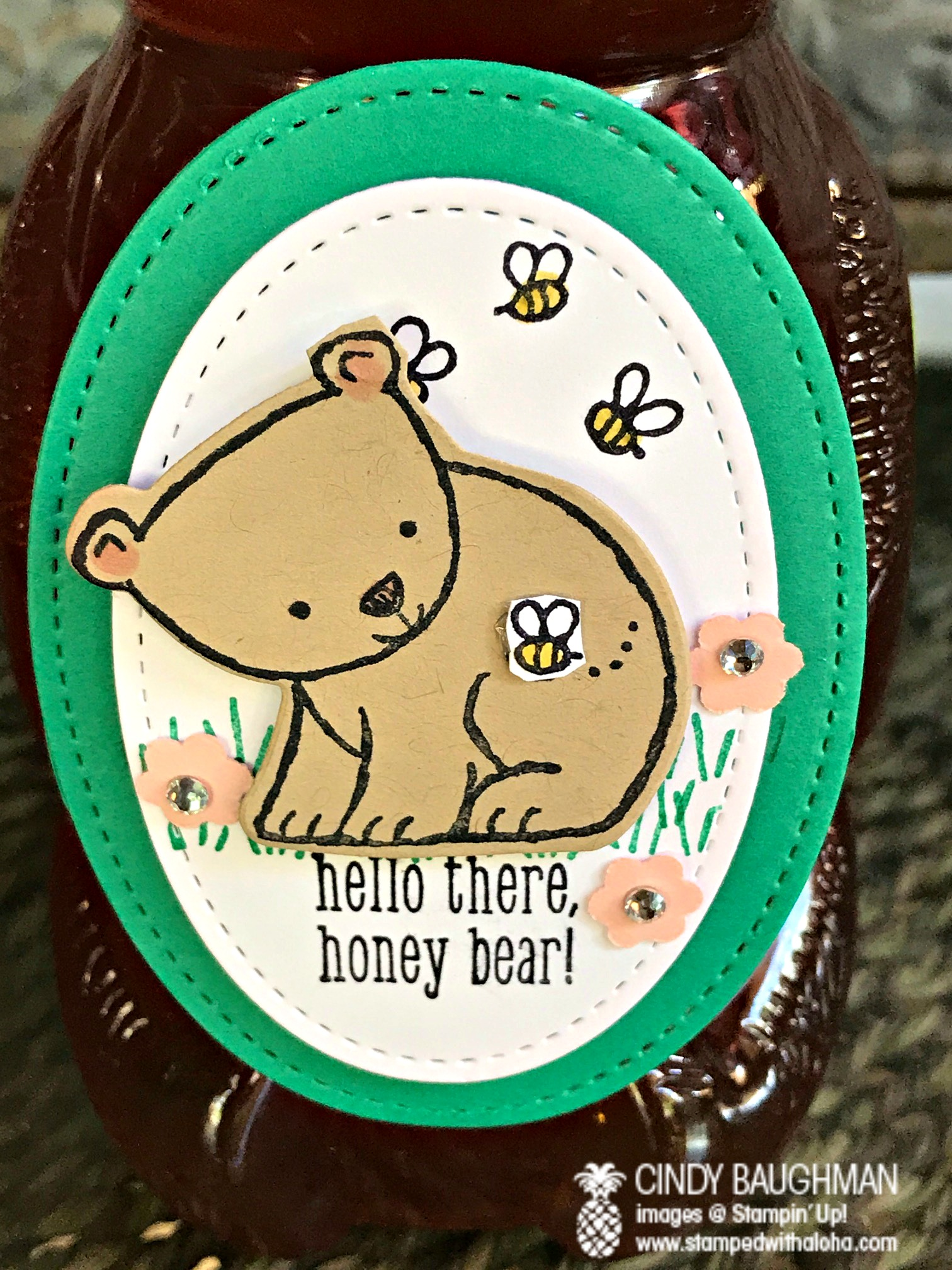 A Little Wild Honey Tag - www.stampedwithaloha.com