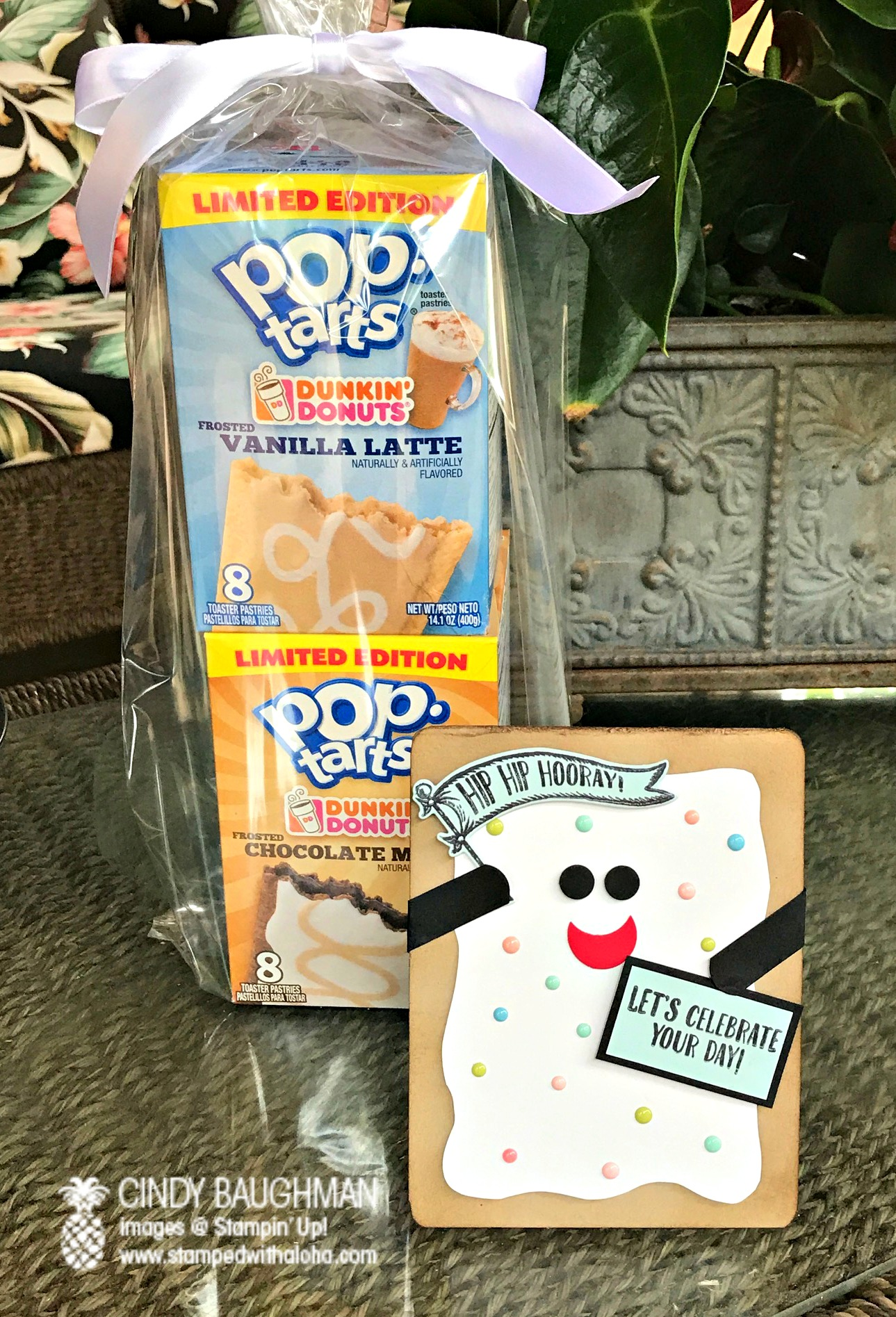 Pop Tart Card and Gift - www.stampedwithaloha.com