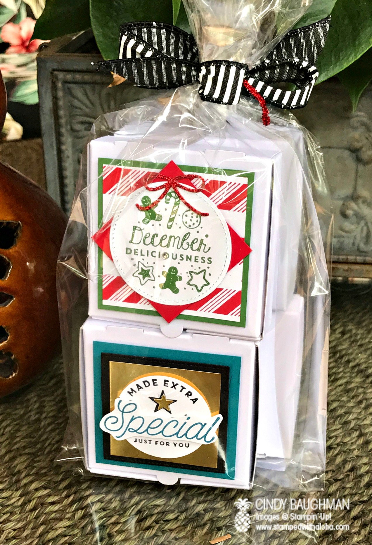 Stampin' Up! Pizza Boxes - www.stampedwithaloha.com
