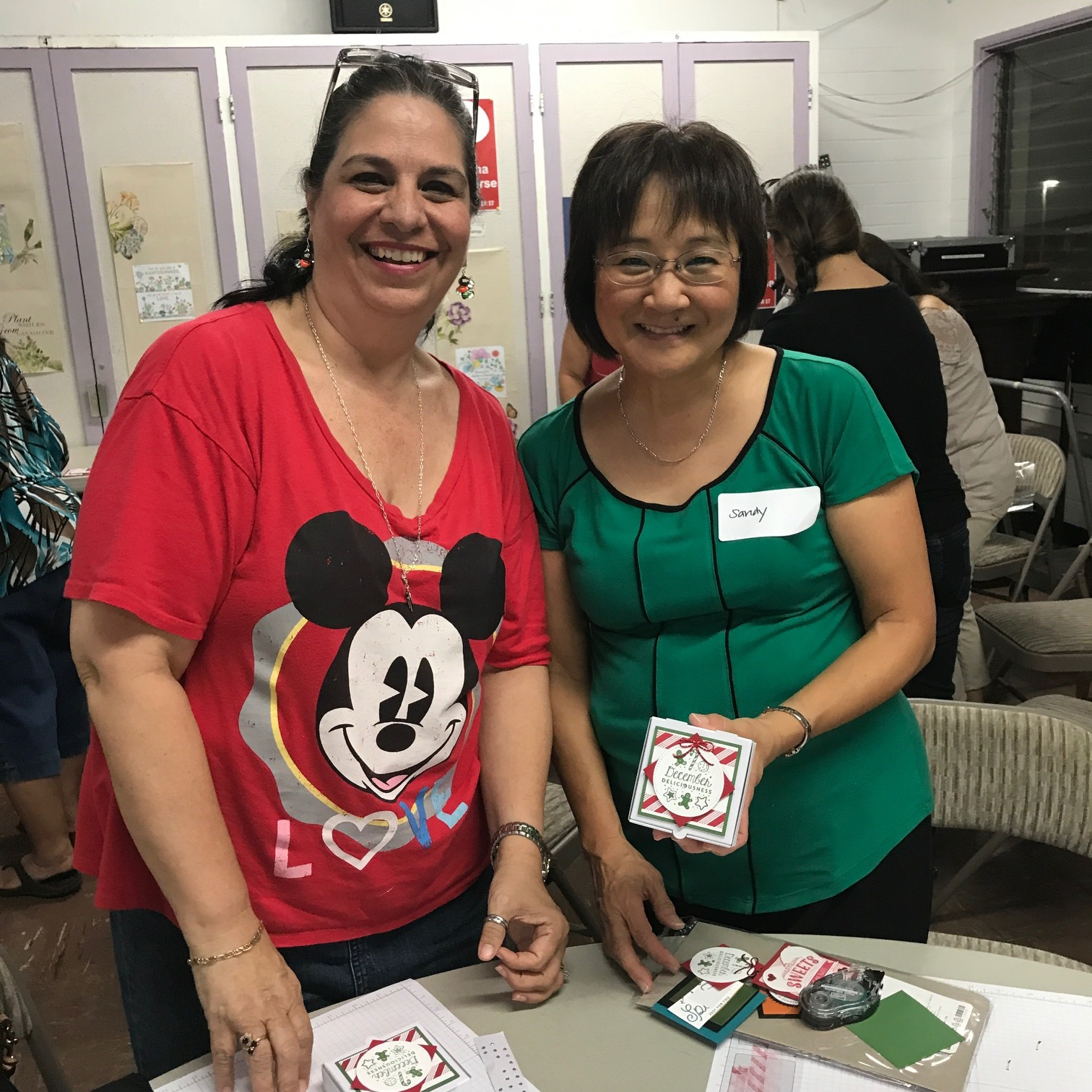 Julie and Sandy at Inspiration Night - www.stampedwithaloha.com