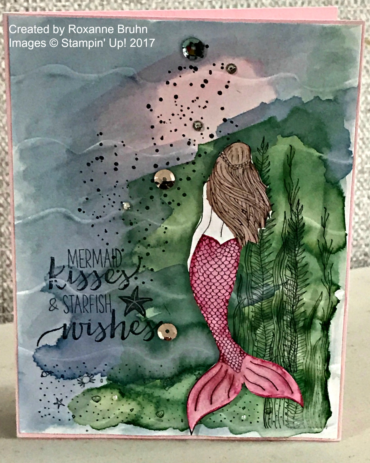 Magical Mermaid Card - www.stampedwithaloha.com