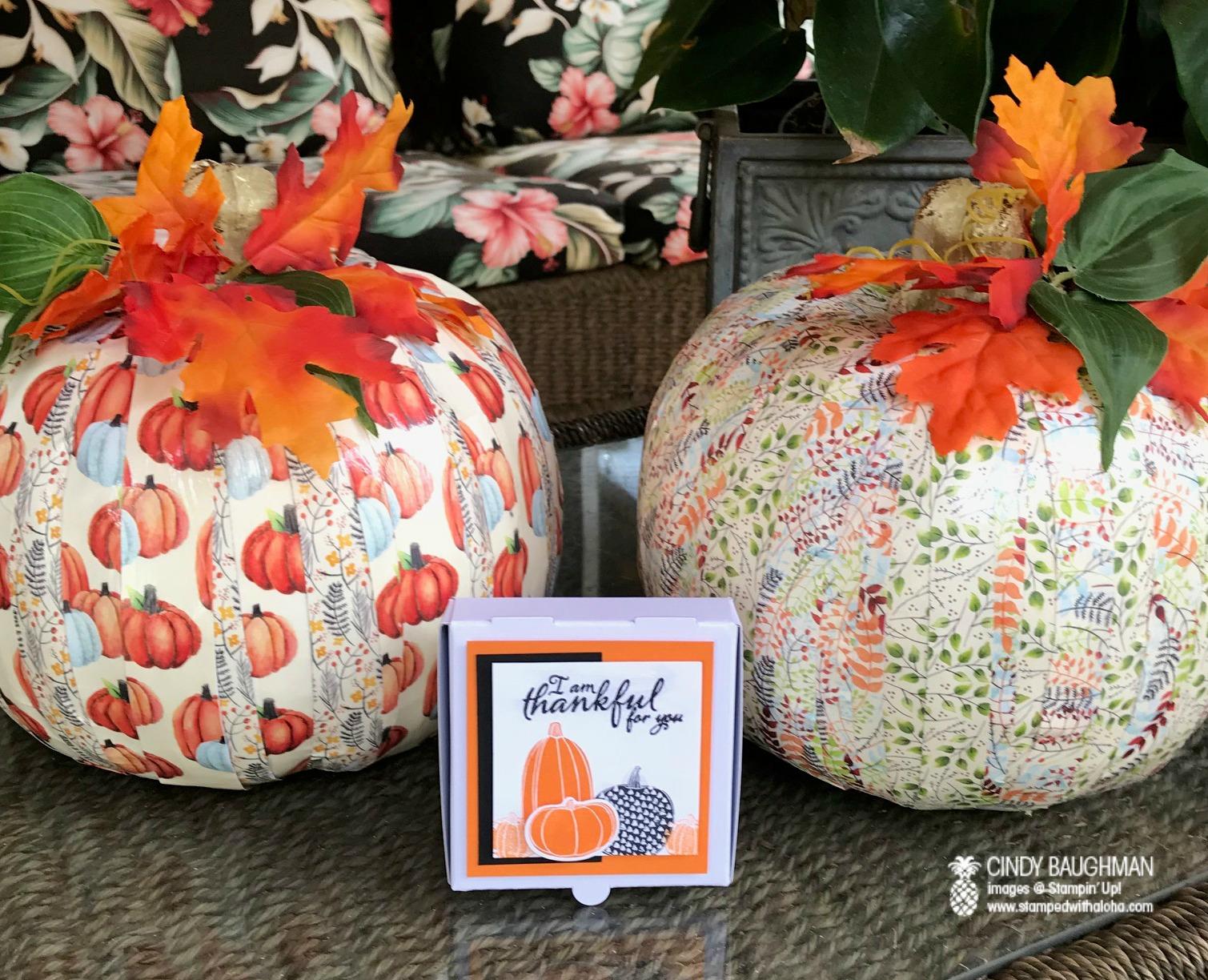 Pick A Paper Pumpkin - www.stampedwithaloha.com