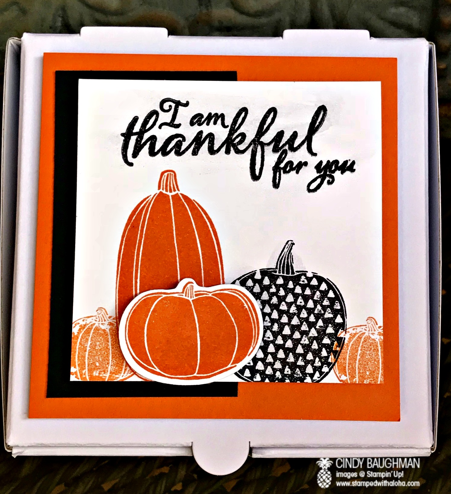 Pick A Pumpkin Pizza Box - www.stampedwithaloha.com