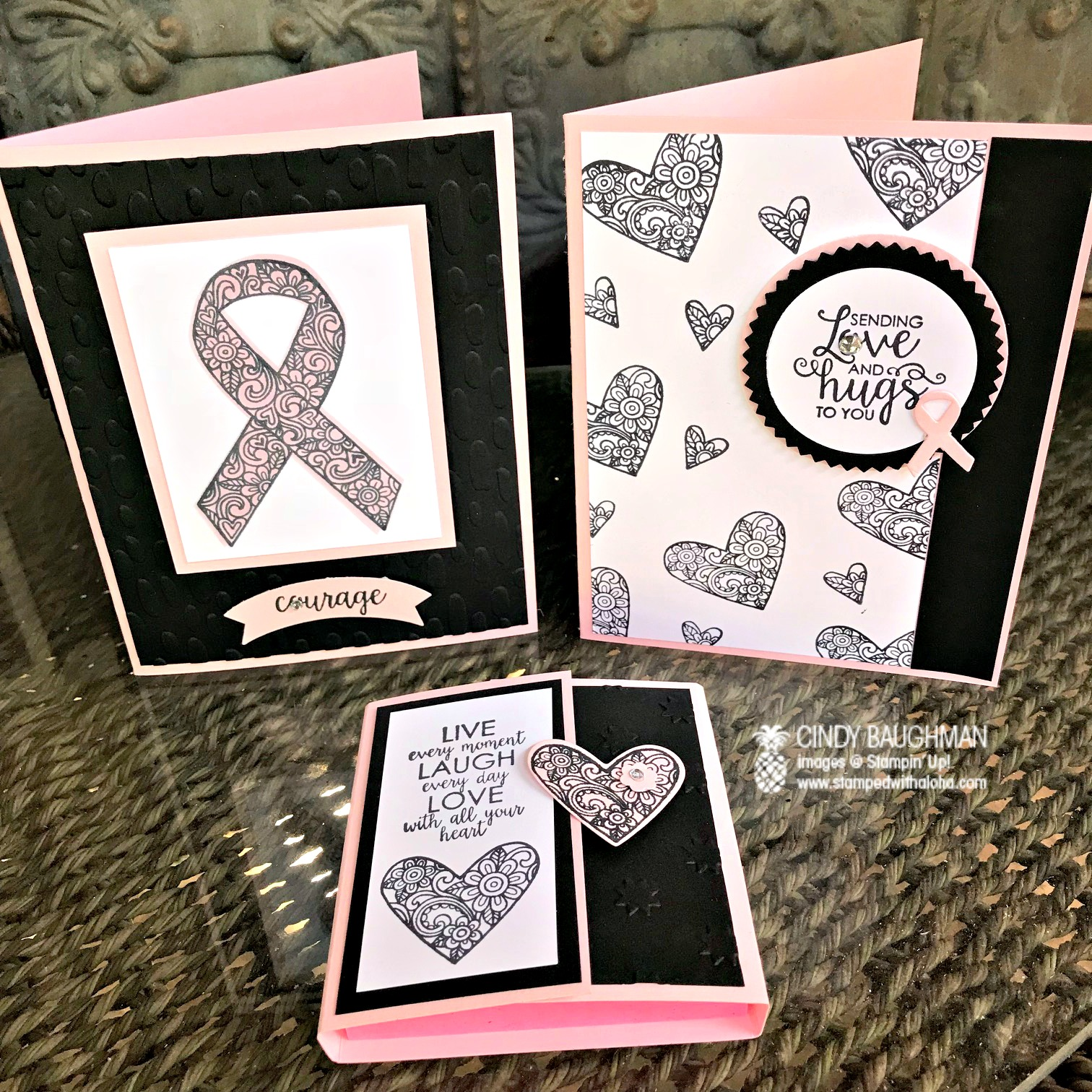 Pink With Purpose Projects - www.stampedwithaloha.com