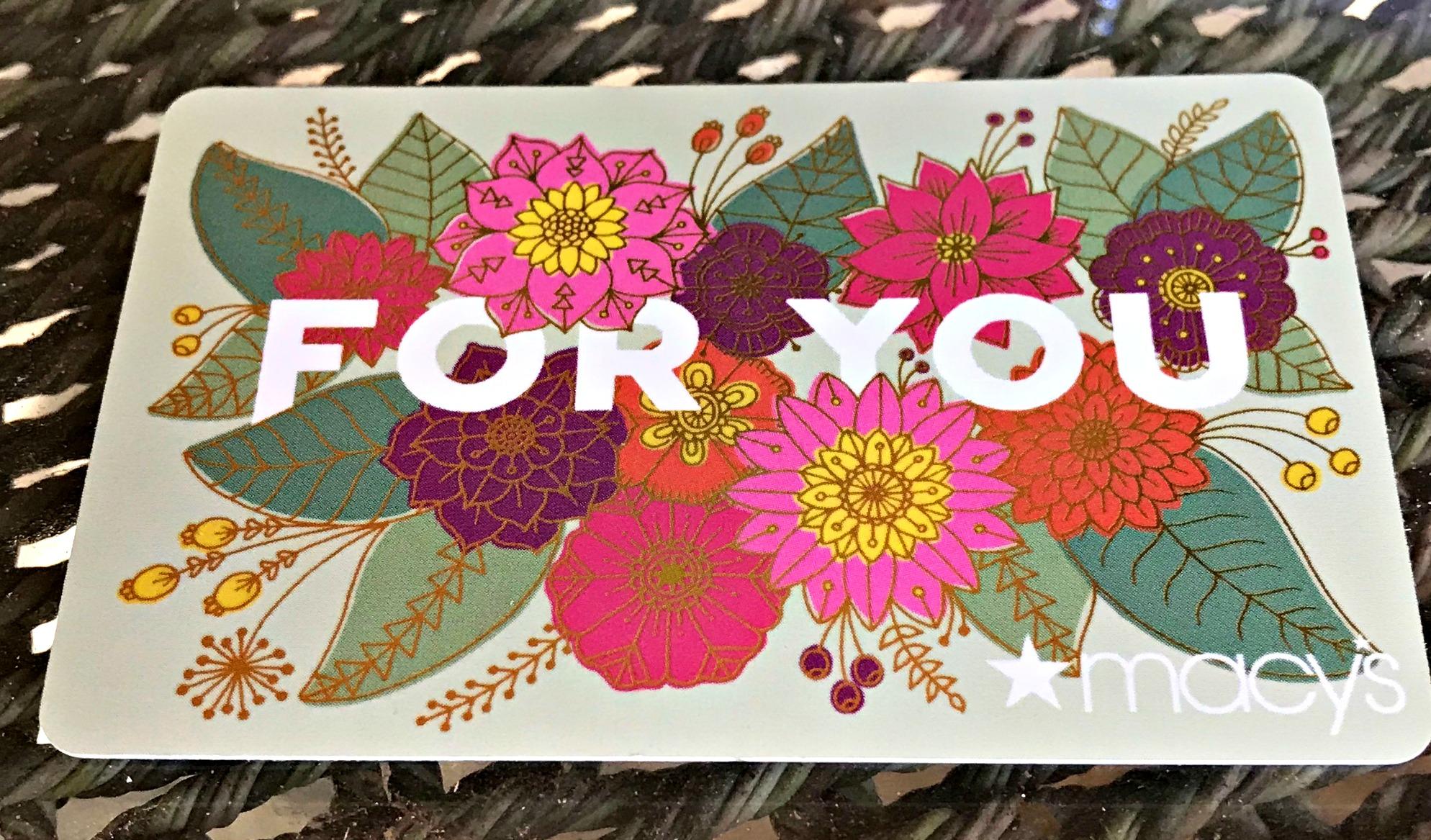 Macy's Gift Card - www.stampedwithaloha.com