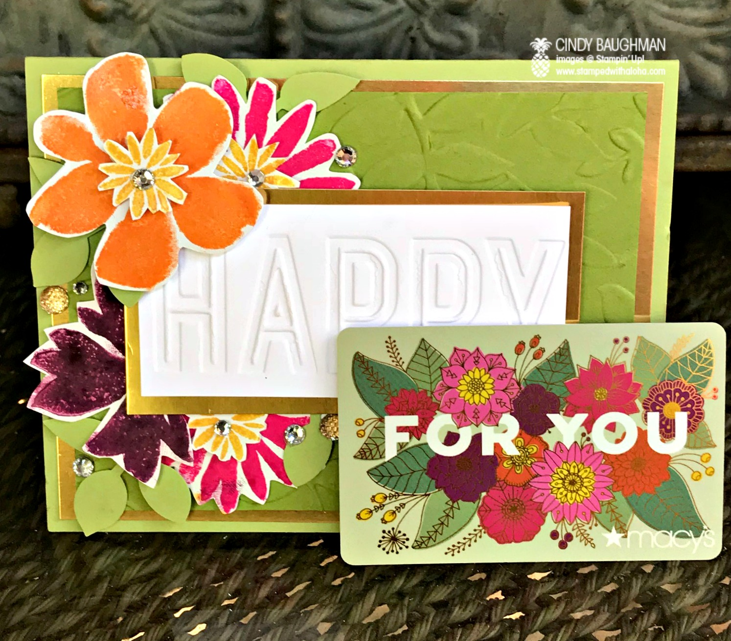 Blooms and Wishes Card and Gift - www.stampedwithaloha.com