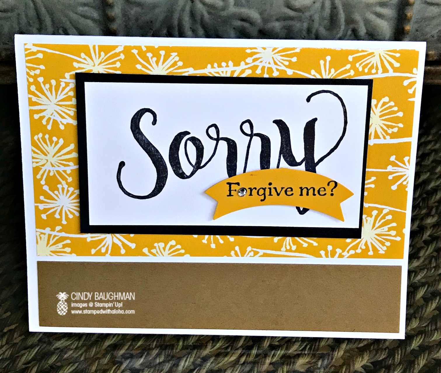 Sorry For Everything Card - www.stampedwithaloha.com