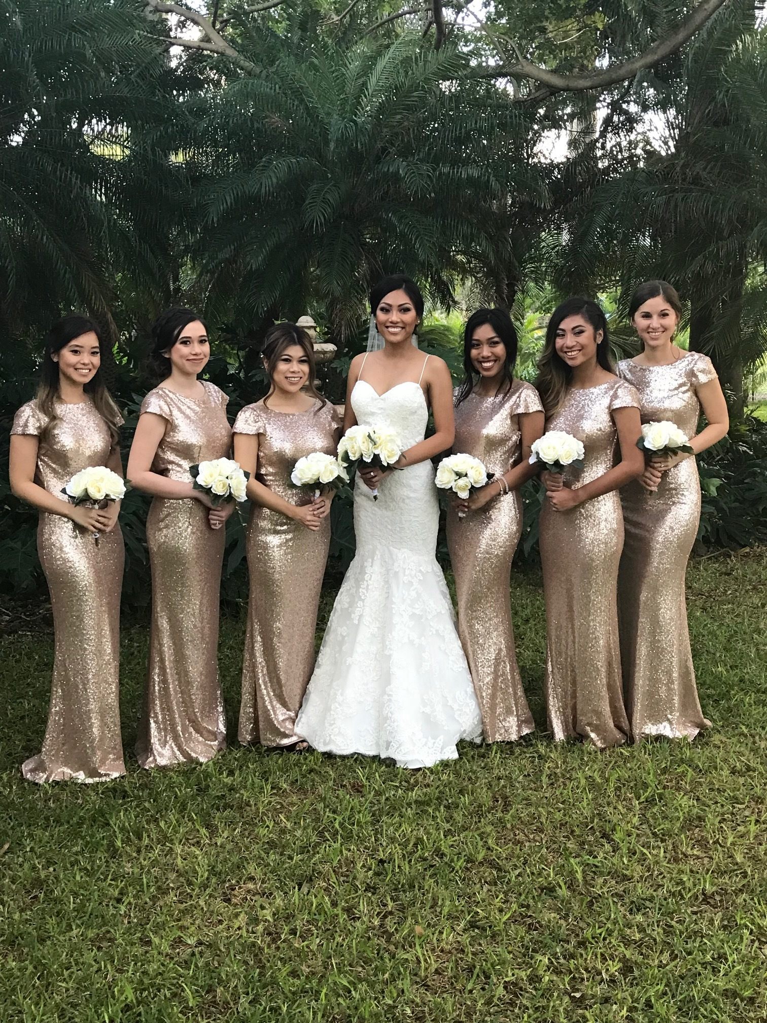 Joyce and her bridal party