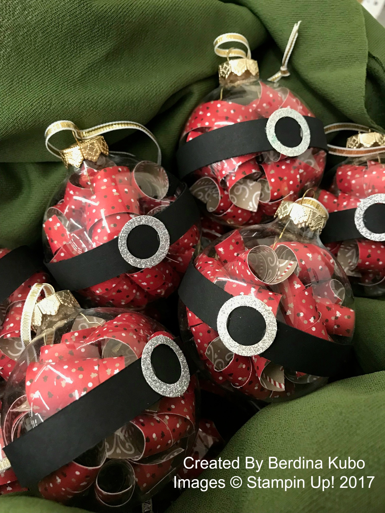 Paper Filled Ornaments