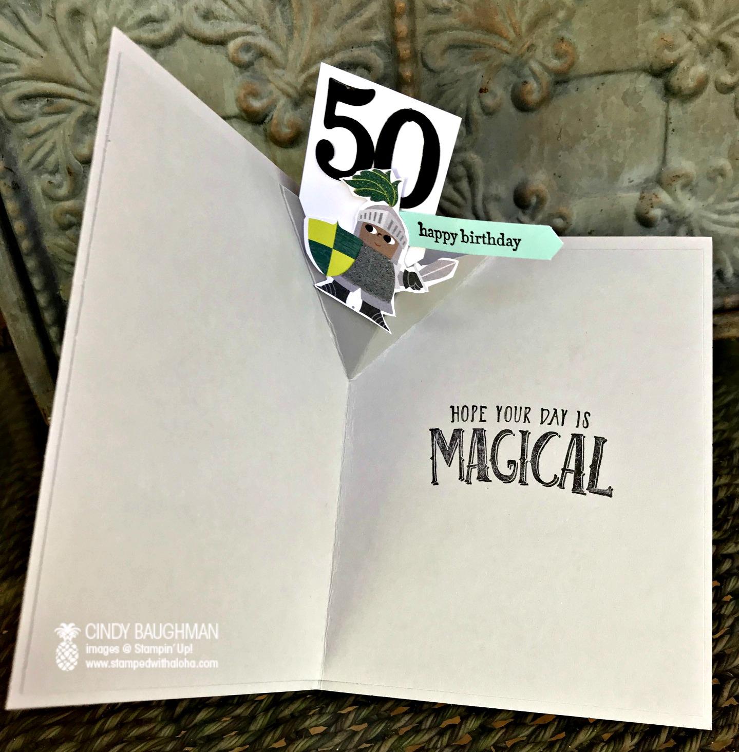 Myths and Magic Birthday Card (inside)