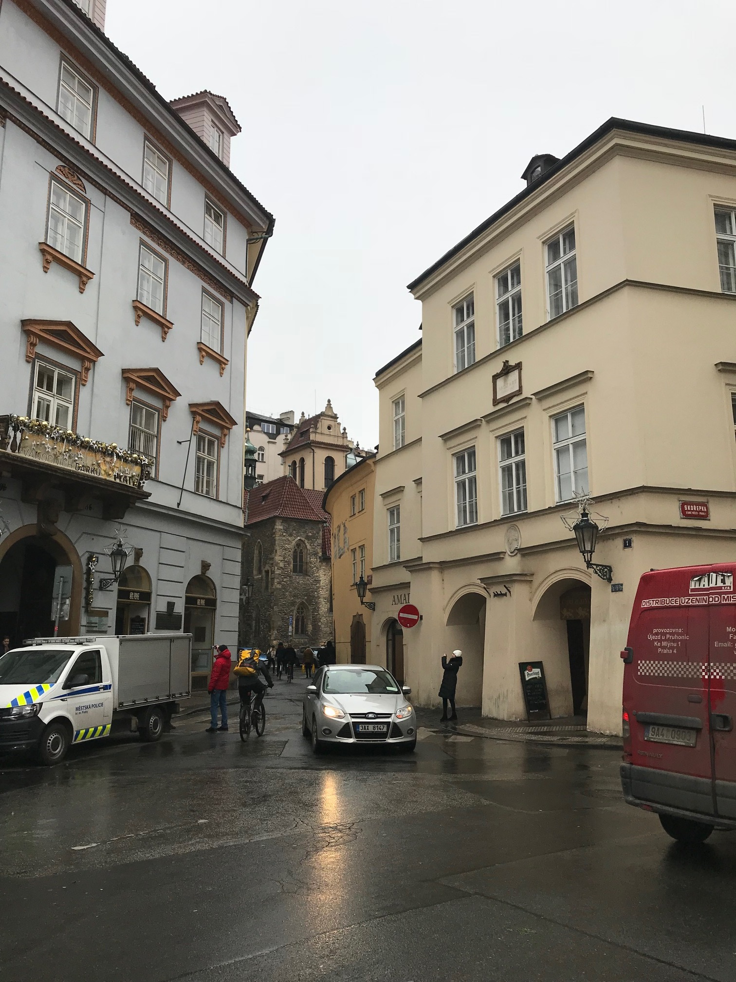 Mozart lived in the house on the right