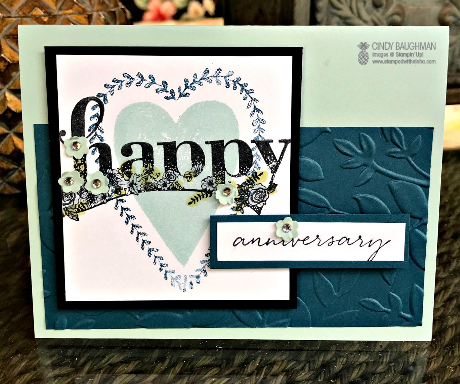 Happy Wishes Card - www.stampedwithaloha.com