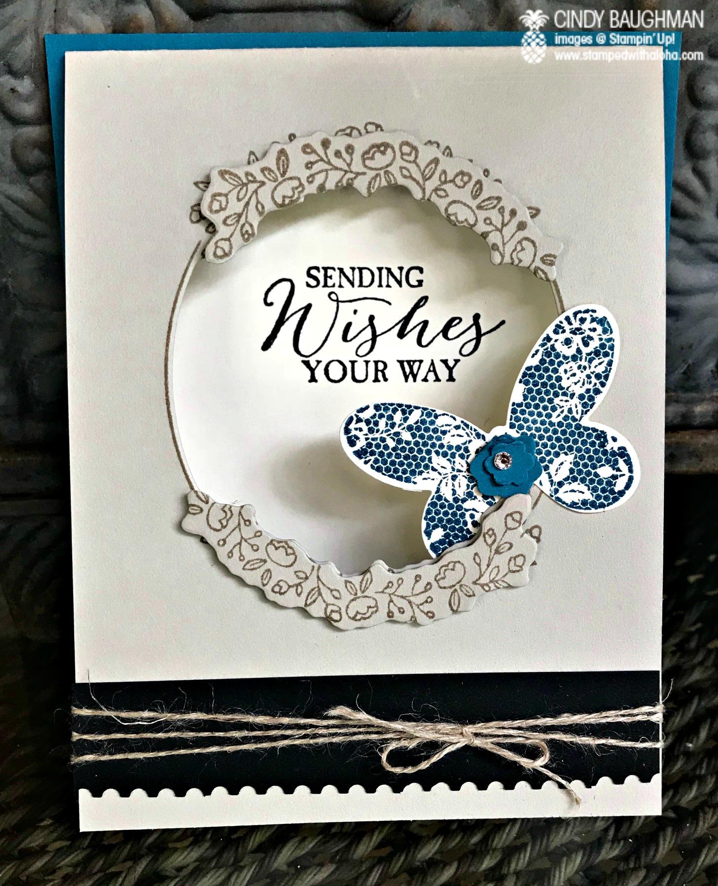 Butterfly Basics Card - www.stampedwithaloha.com