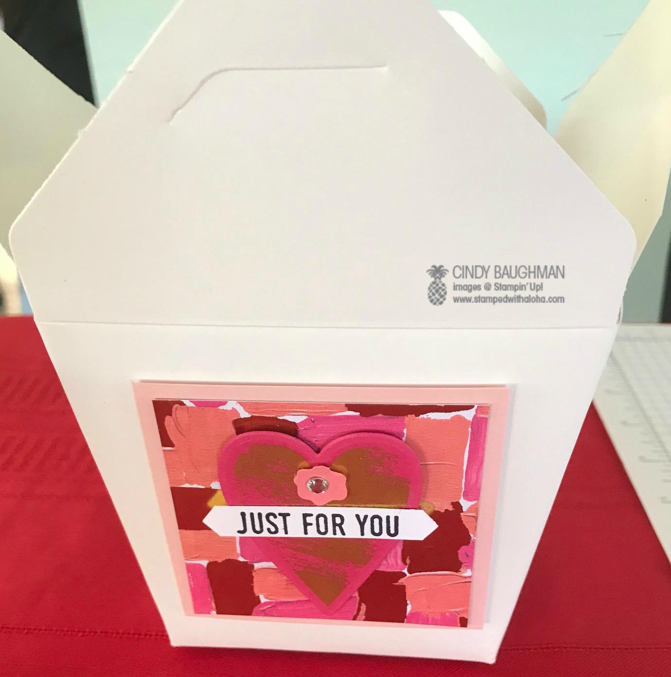 Valentine Take Out Box