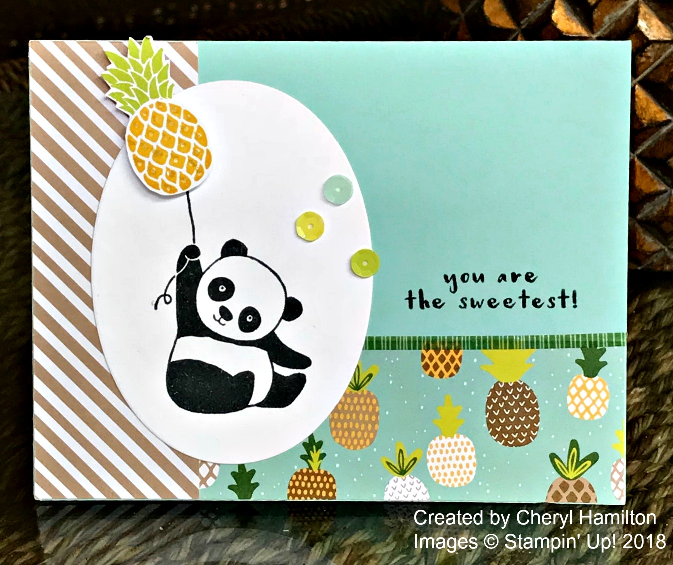 Pineapple Panda Card