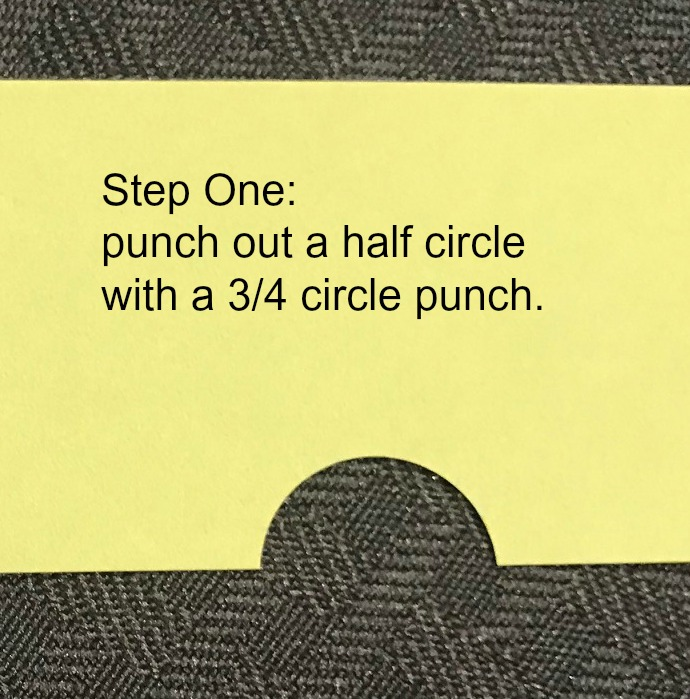 Hula Skirt Punch Art - Step One