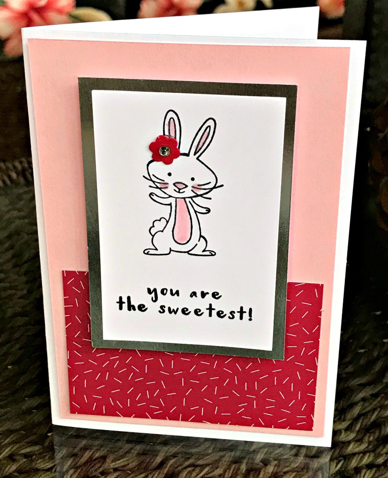 We Must Celebrate Bunny Card - www.stampedwithaloha.com