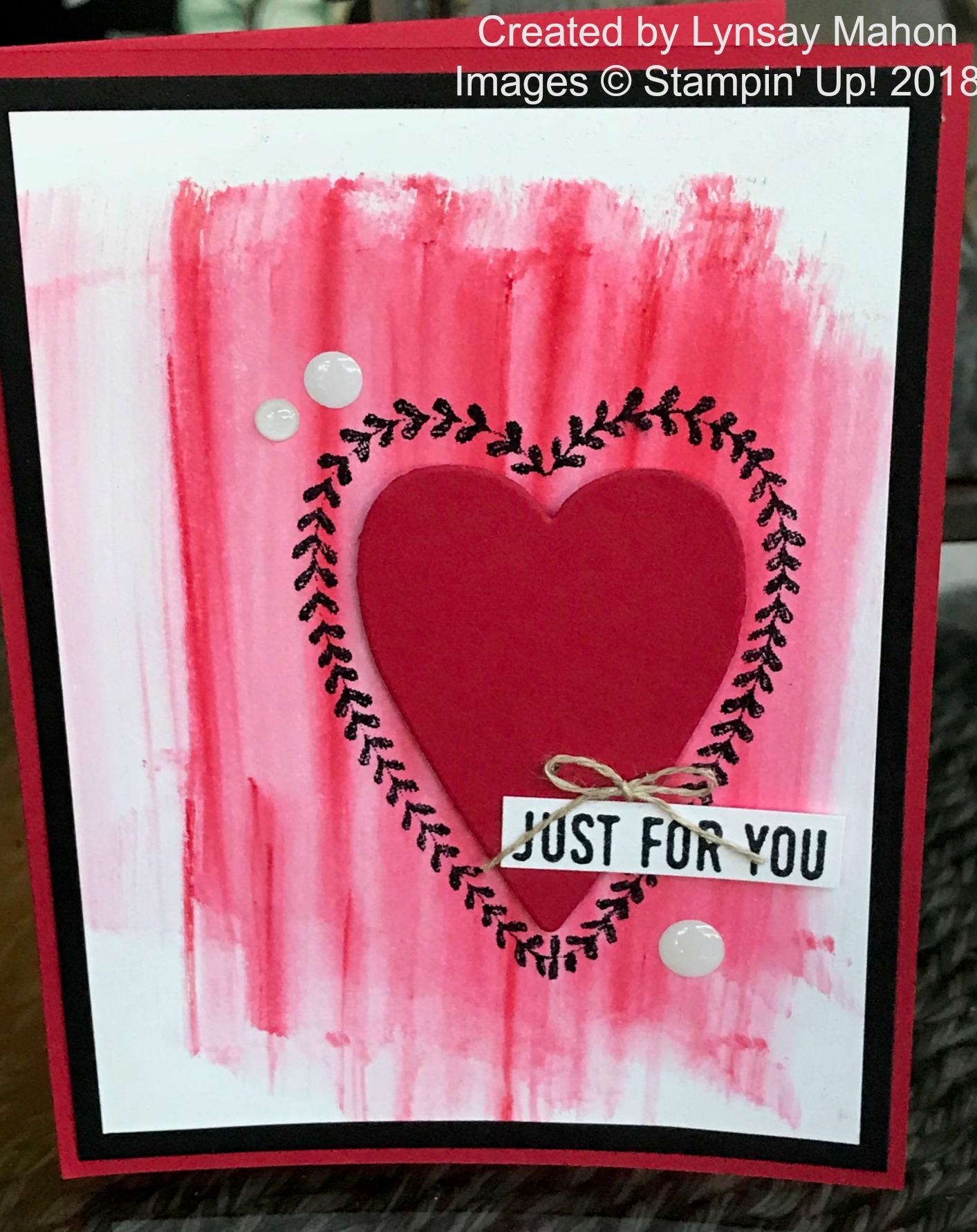 Sure Do Love You Brusho Card - www.stampedwithaloha.com