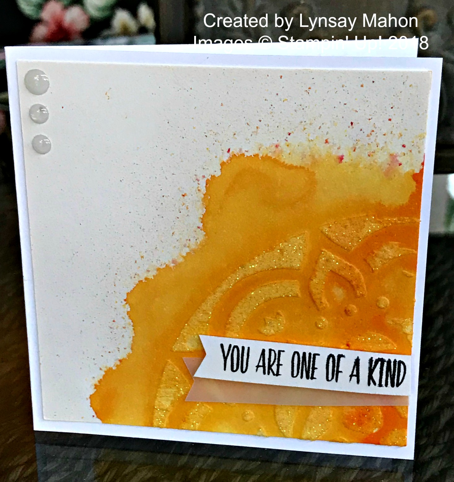 Lovely Wishes Brush Card - www.stampedwithaloha.com