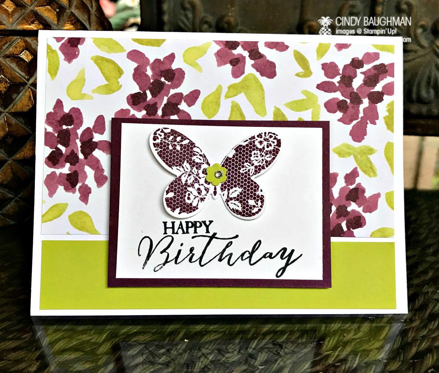Butterfly Basics Birthday Card - www.stampedwithaloha.com