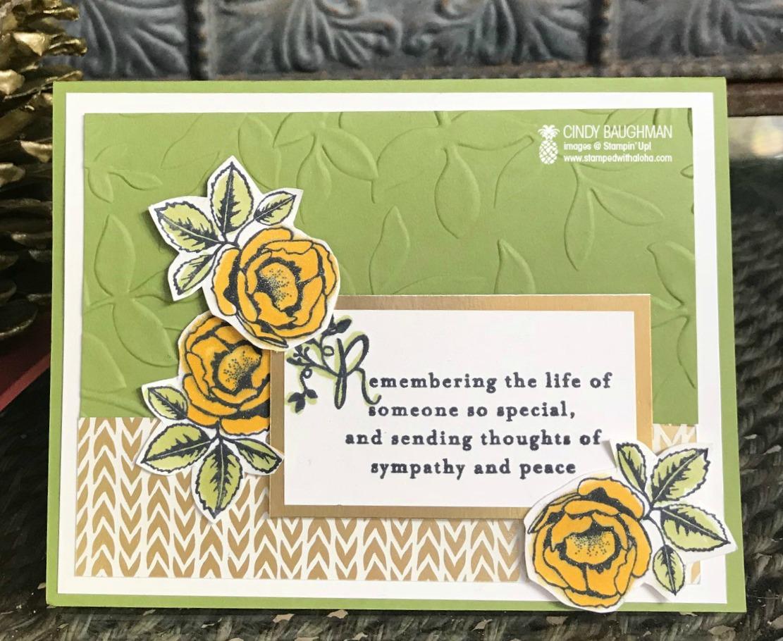 Heartfelt Sympathy Card - www.stampedwithaloha.com
