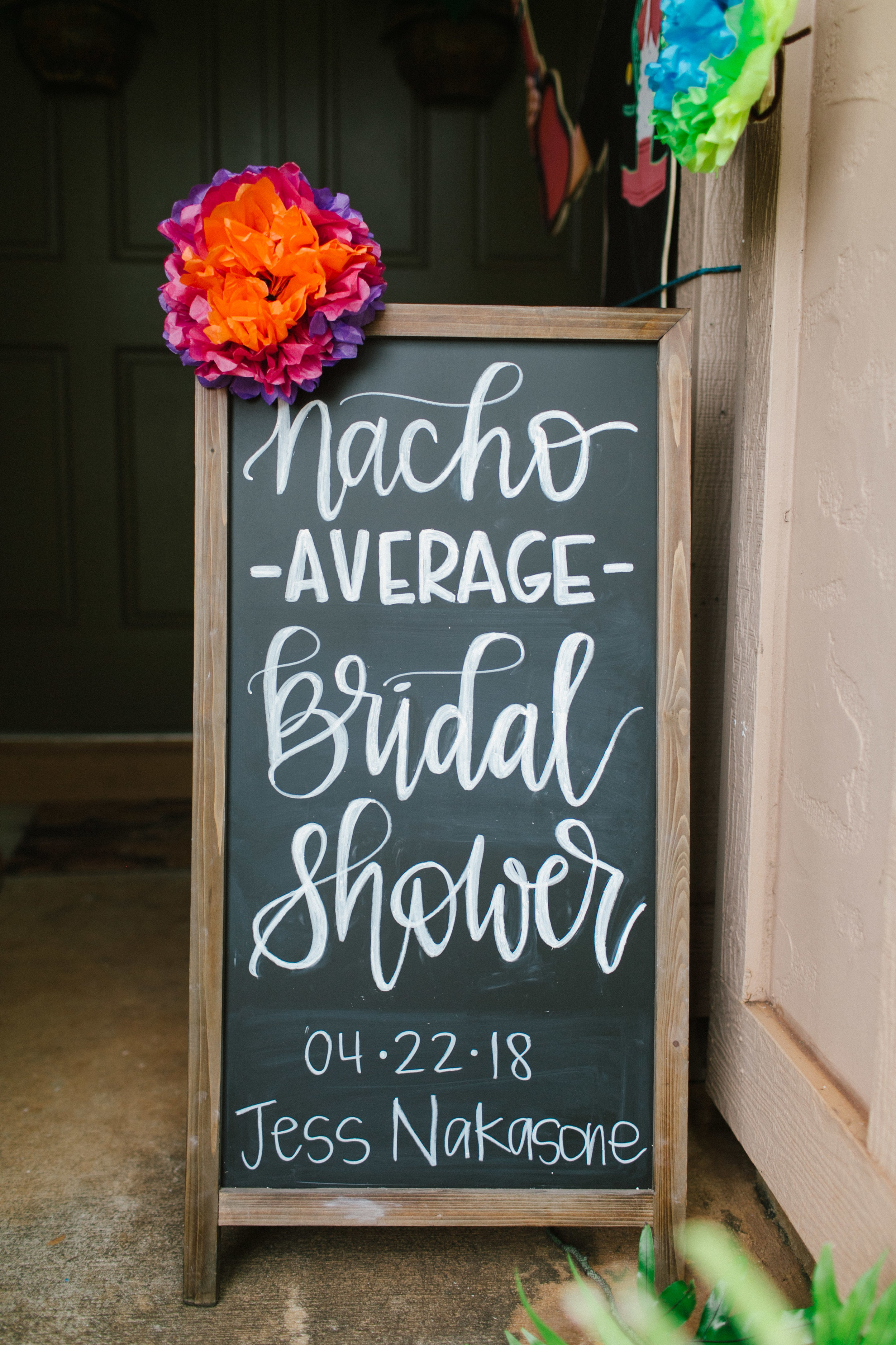 Fiesta Bridal Shower Welcome Sign - www.stampedwithaloha.com