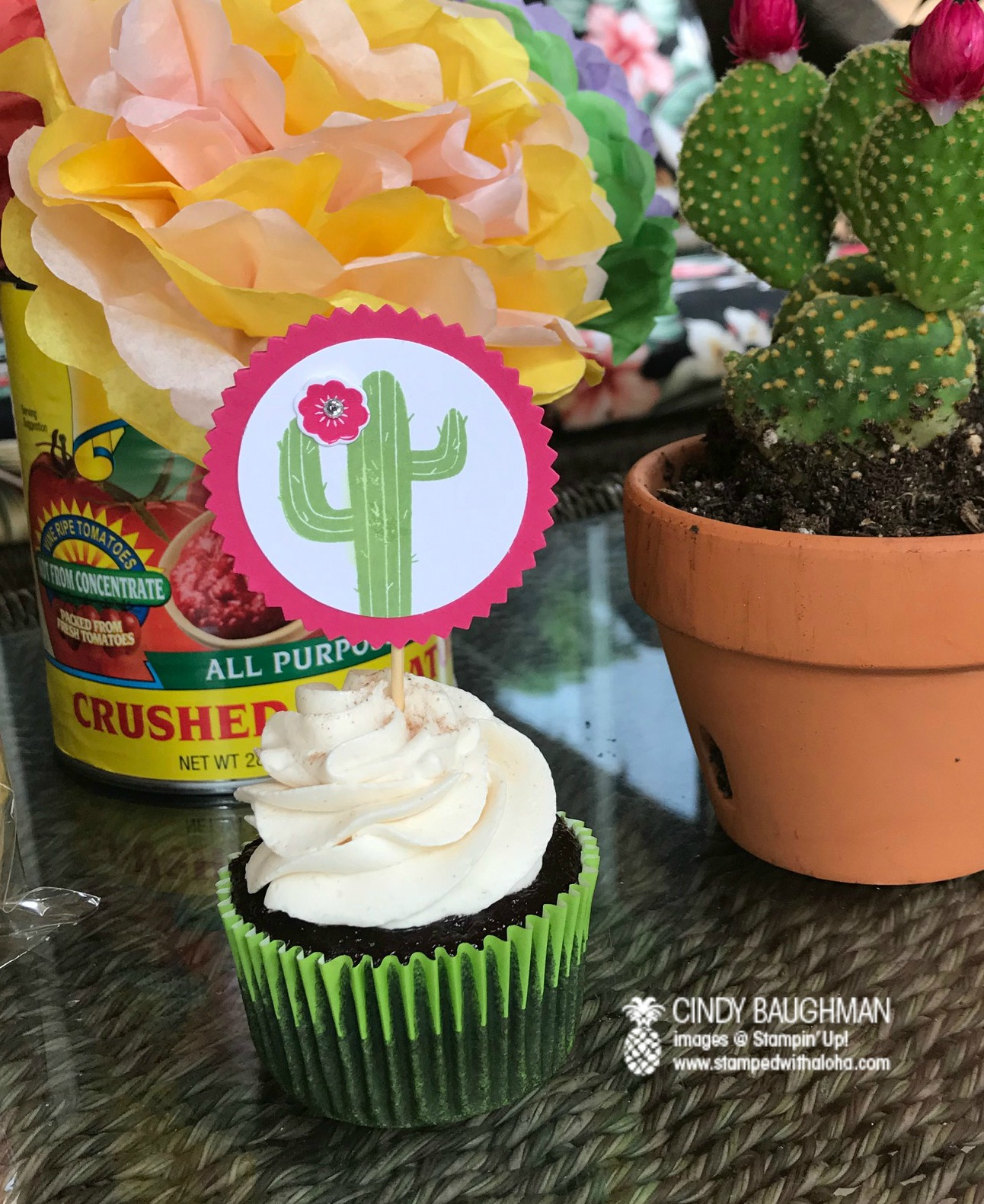 Mexican Chocolate Cupcakes with Horchata Frosting