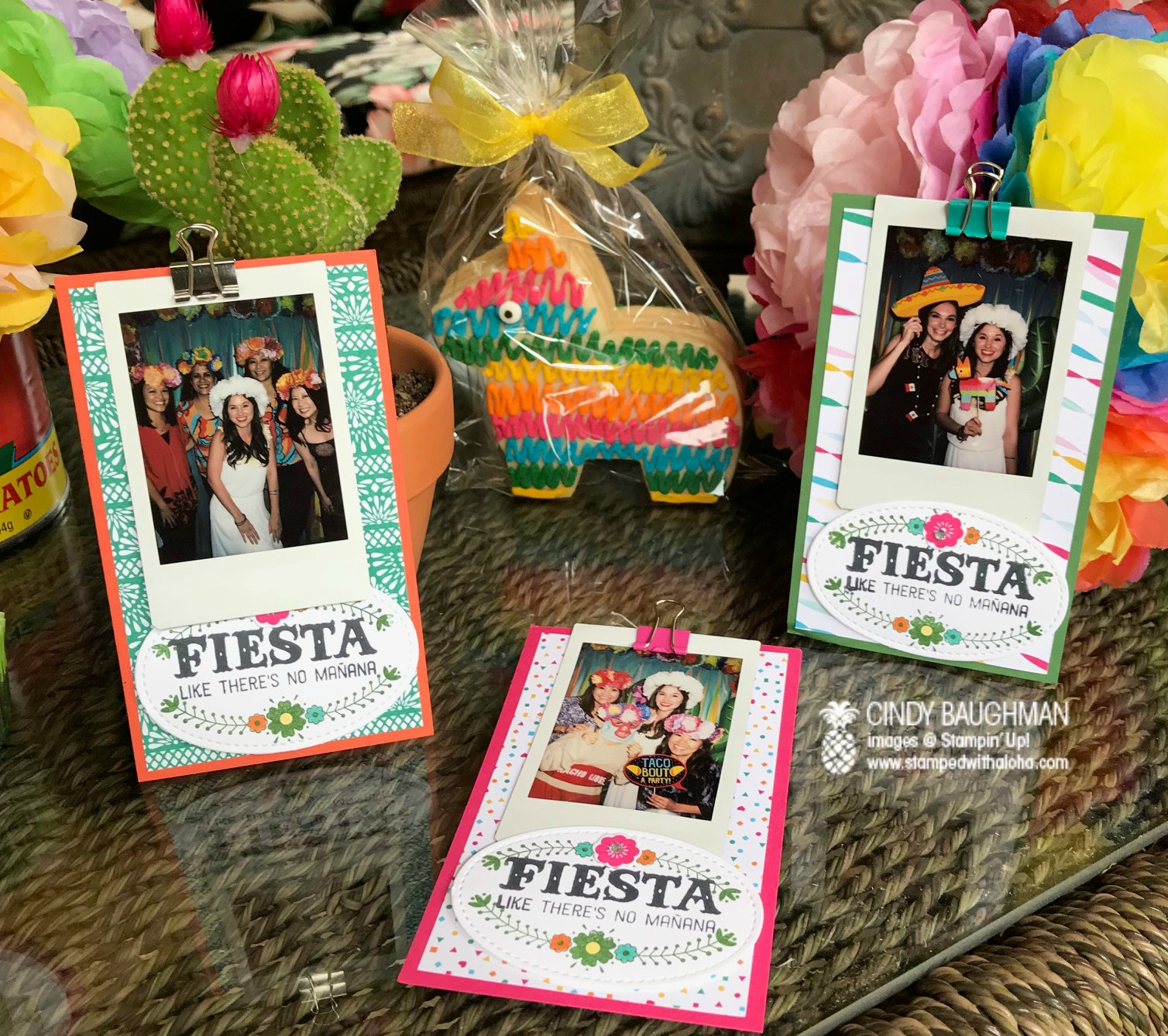 Bridal Fiesta Photo Cards - www.stampedwithaloha.com
