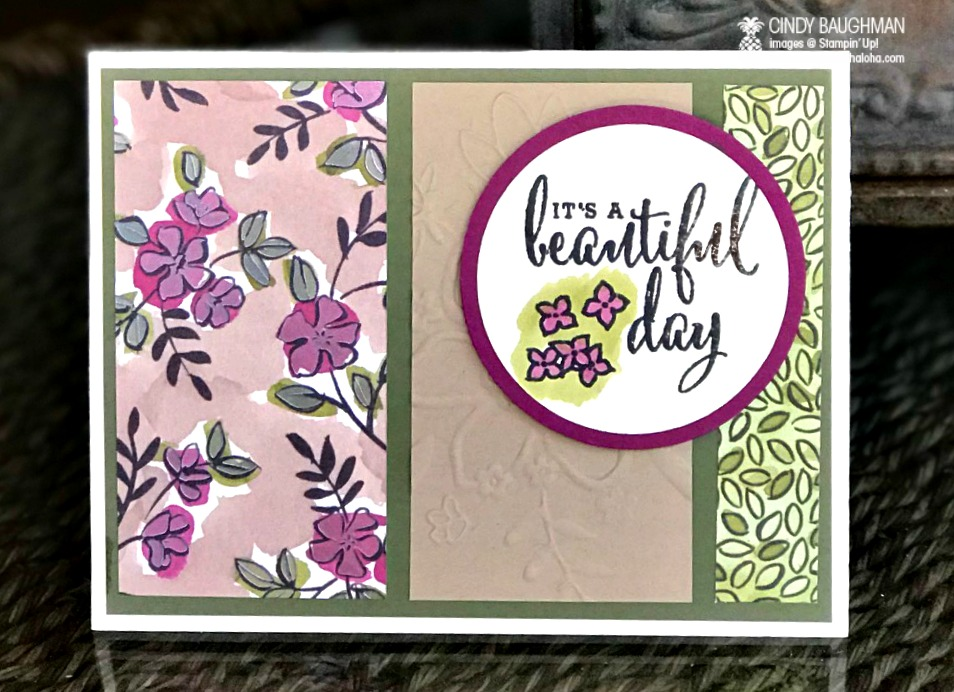 Love What You Do Beautiful Day Card - www.stampedwithaloha.com