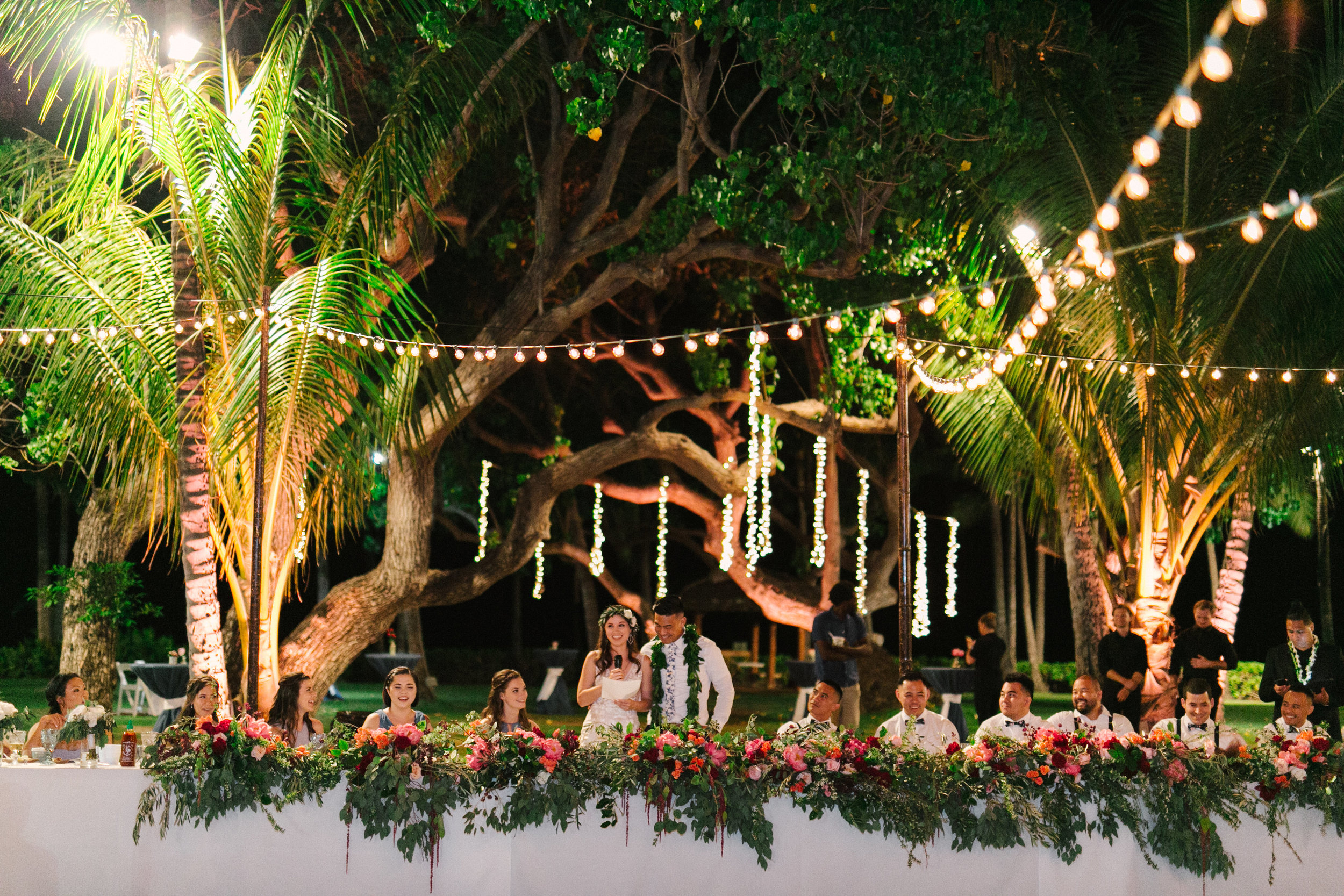 Brett and Jess Wedding reception