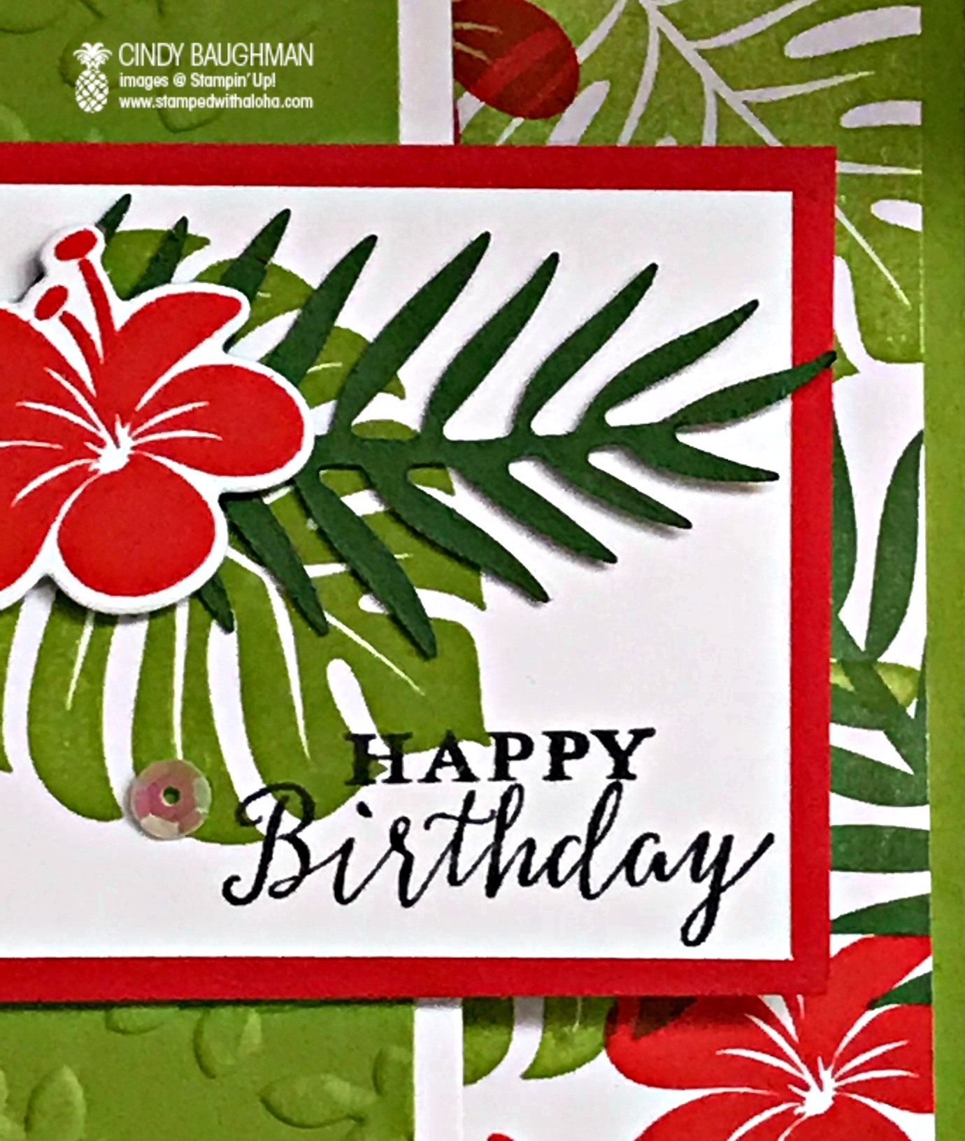 Tropical Chic Birthday Card