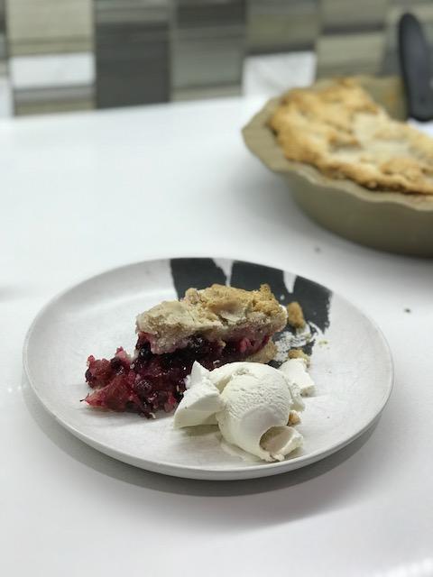Saskatoon Rhubarb Pie