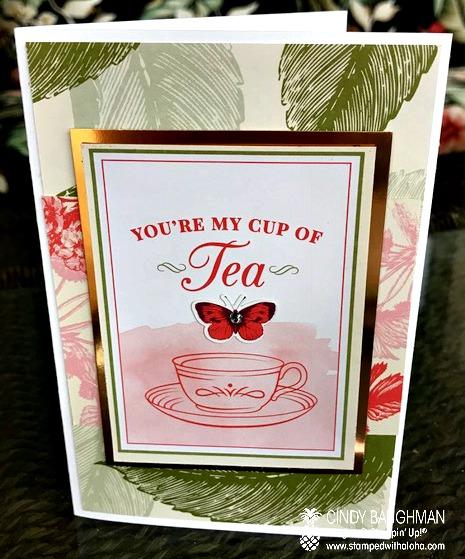 Tea Room Memory and More card