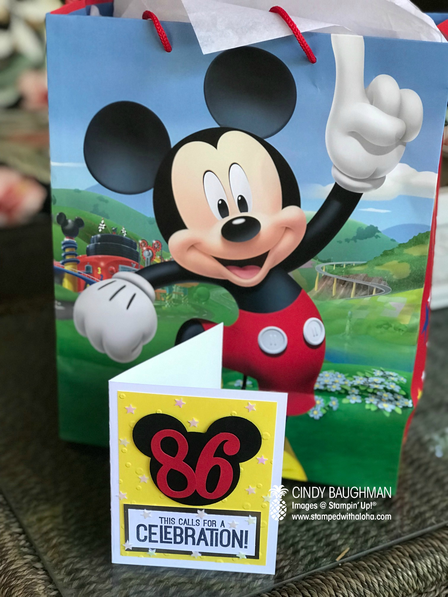 Calls for A Celebration Mickey Card