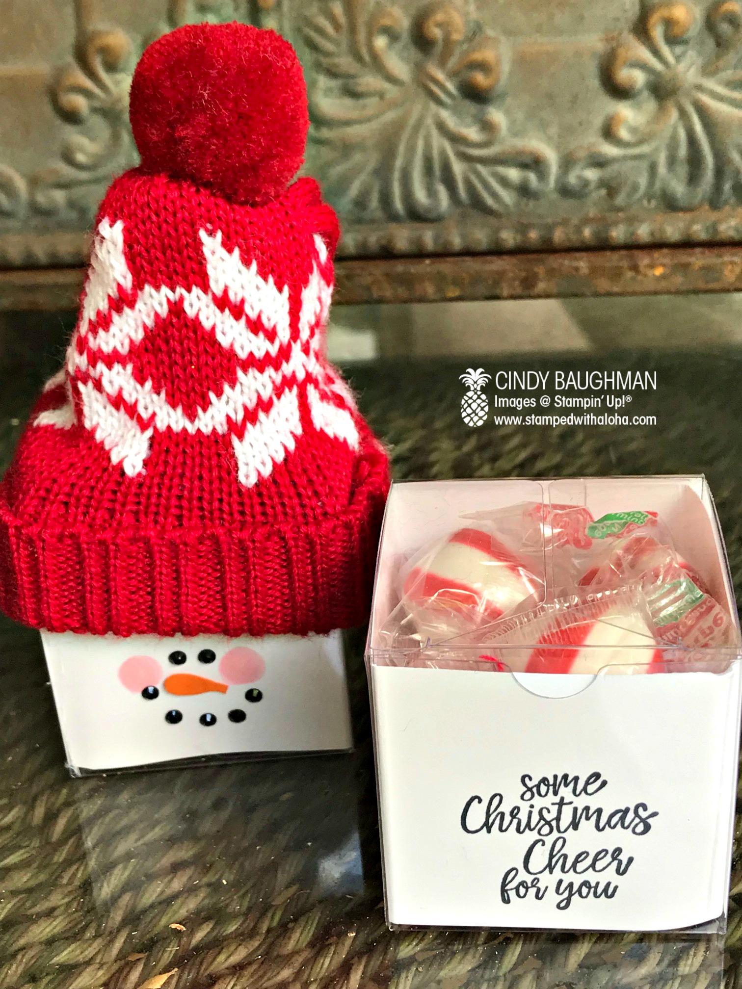Snowman Tiny Treat Box