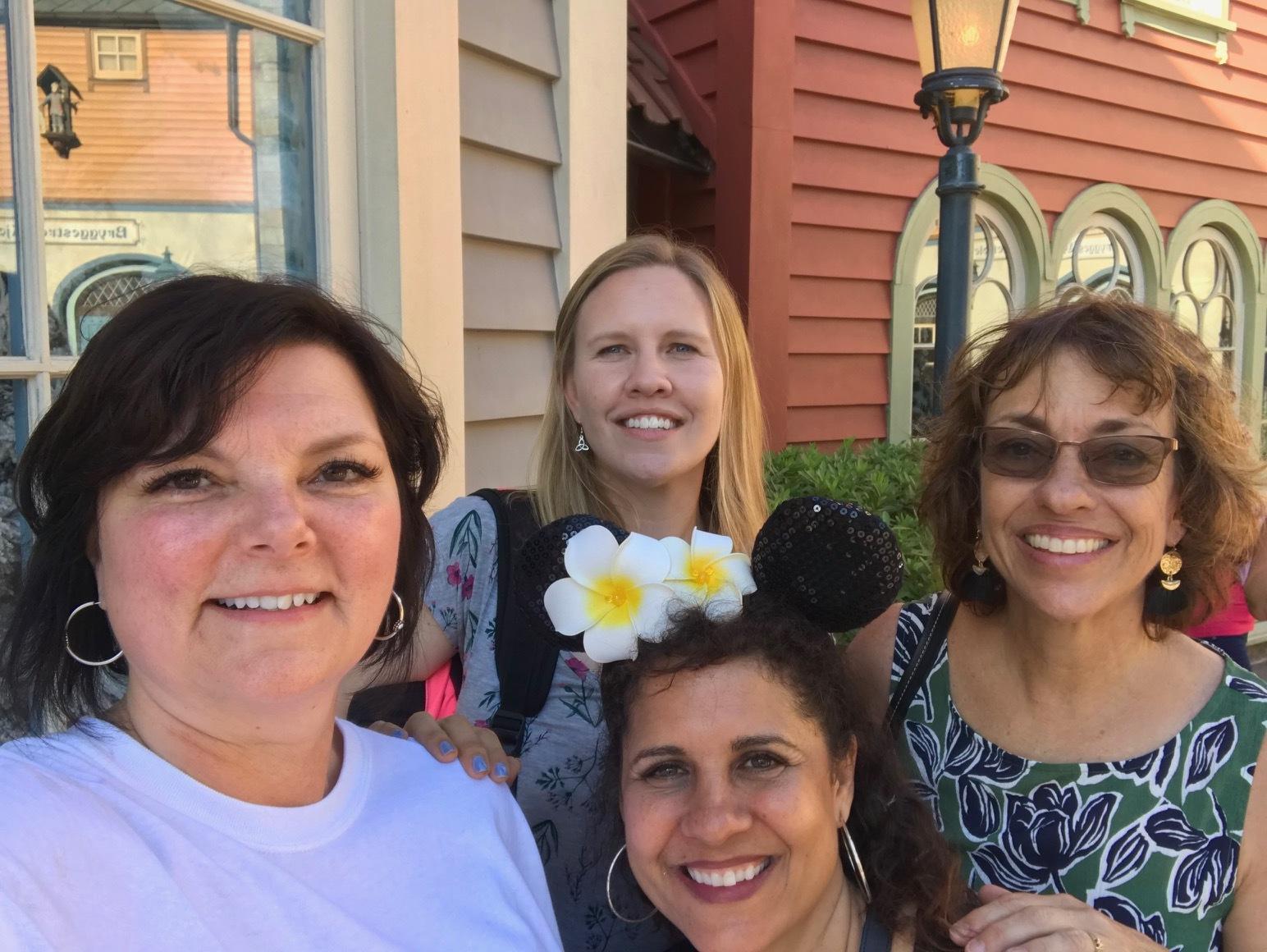 Kim, Andrea, Cheryl and Cindy at Epcot