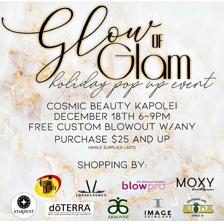 Holiday Pop Up Event at Cosmic Beauty