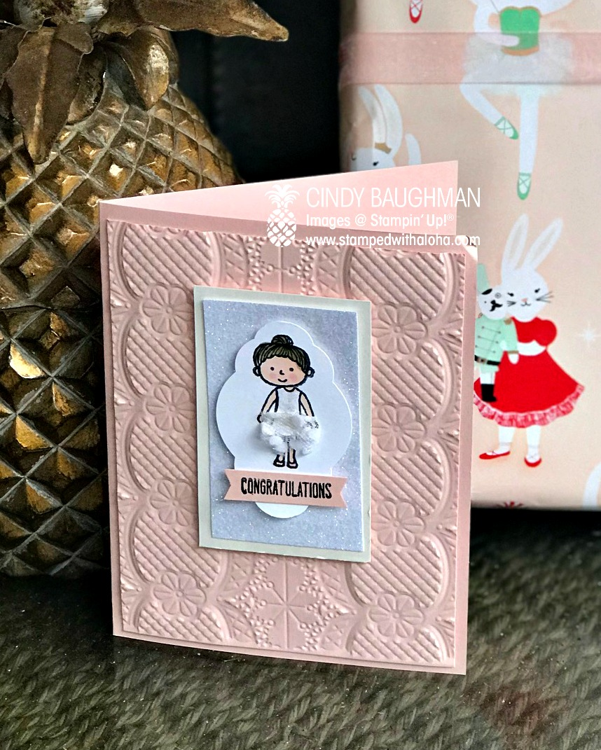 Family and Friends ballerina card