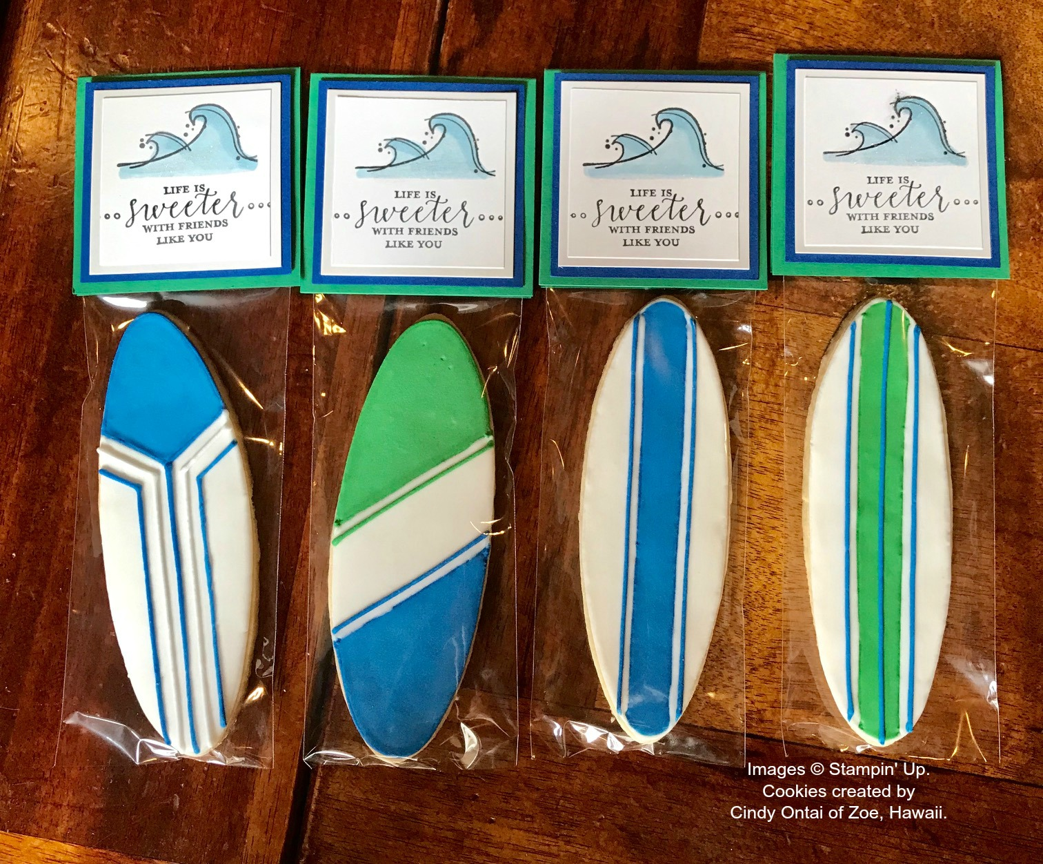 Surf Board Cookies by Zoe, Hawaii