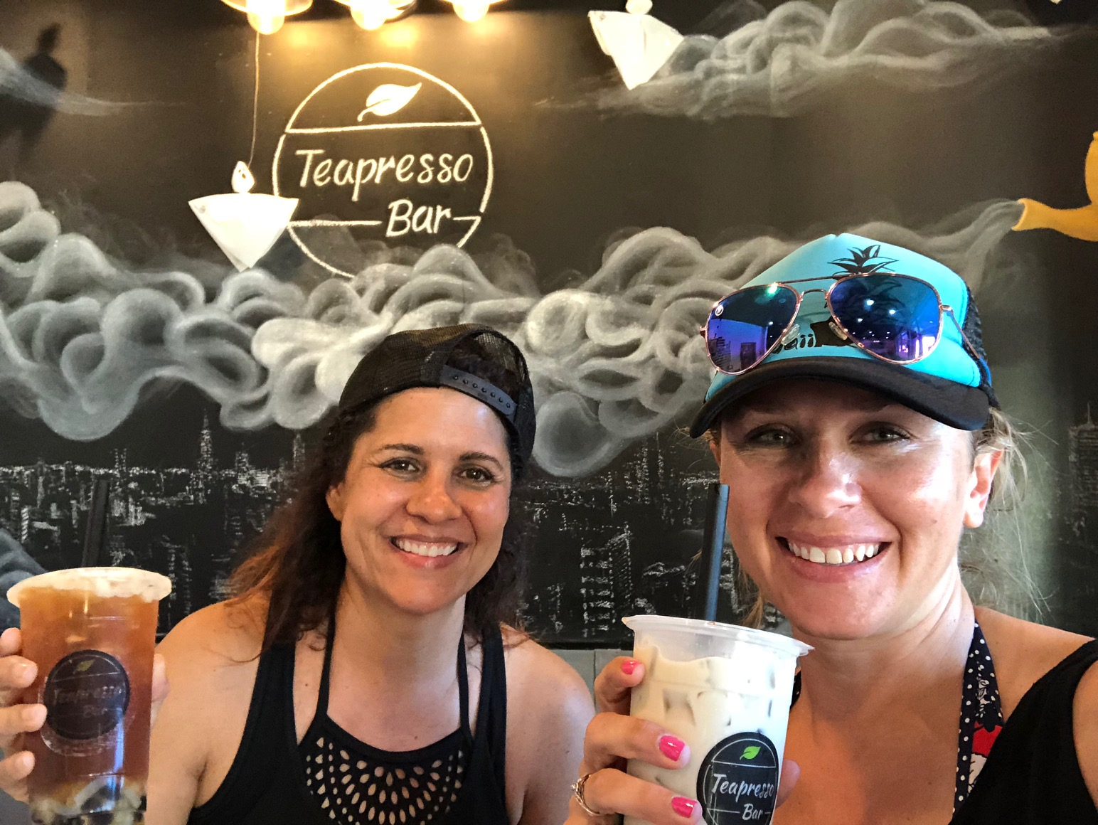 Teapresso Kapolei after a fun beach day!