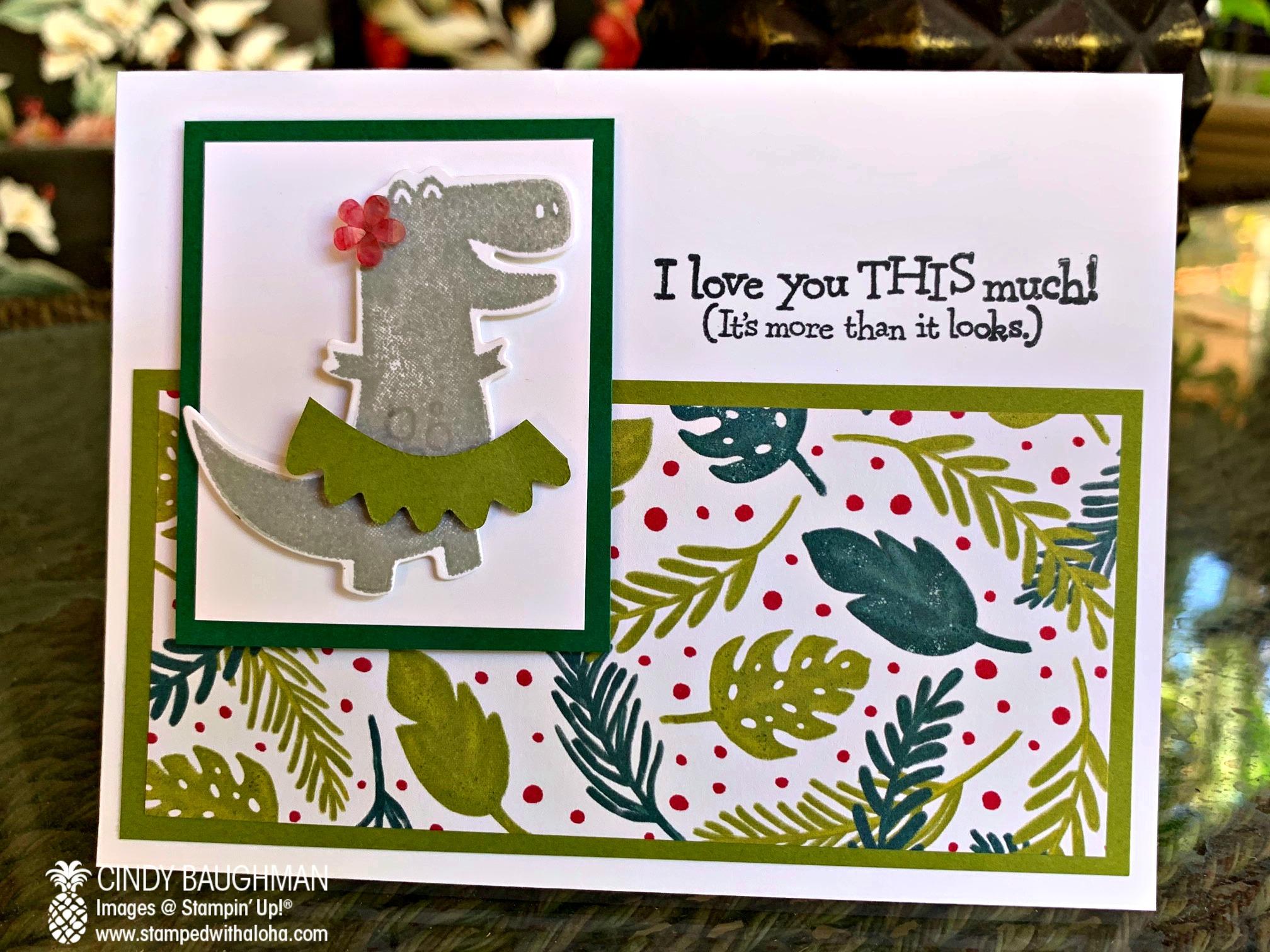 Happy Hula Dinosaur