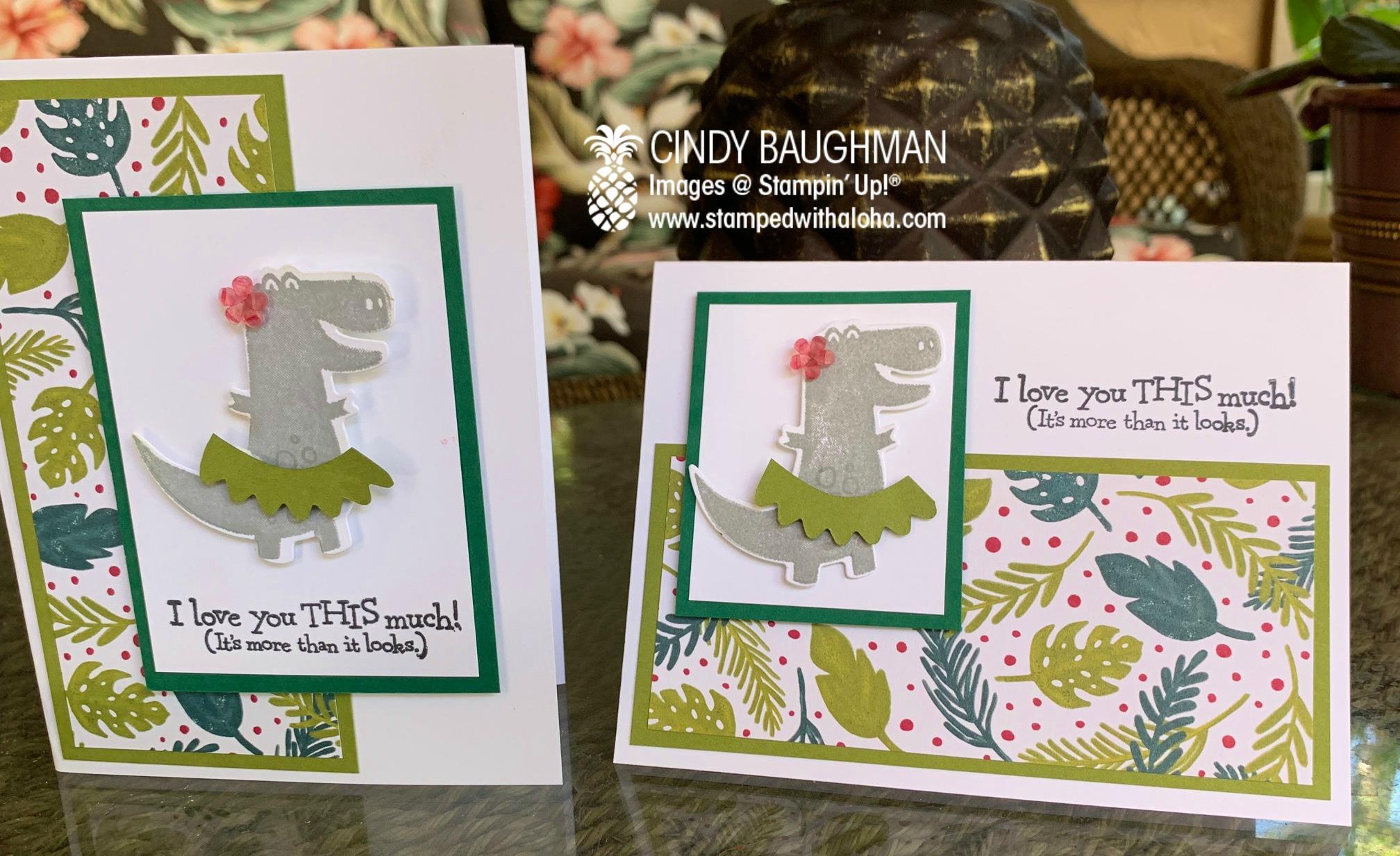 Dino Day's Hula Dinosaur Cards
